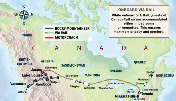 Trans Canada Train Adventure (eastbound) | Canada Rail Vacations on canada skytrain map, canada map major cities, canada ferries map, rail lines map, canada study map, national railroad map, canada flag map, via rail map, canada street map, canada lighthouse map, canada driving map, canada town map, canada tourist map, canadian national map, canada train tours, canada rail system map, canada track map, canadian pacific map, canada bus route map, canada pipeline map,